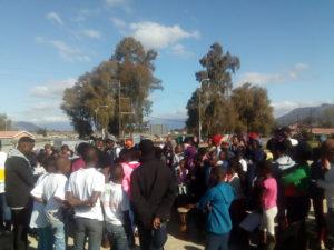 Jemba Drum workshop at the Paarl East Mandela Day event