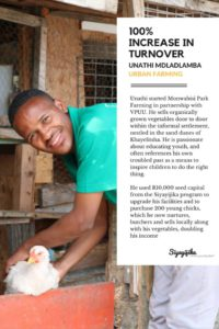 Social Capital: Unathi Mdlalamba aims to develop the youth in Monwabisi Park through his business initiative.