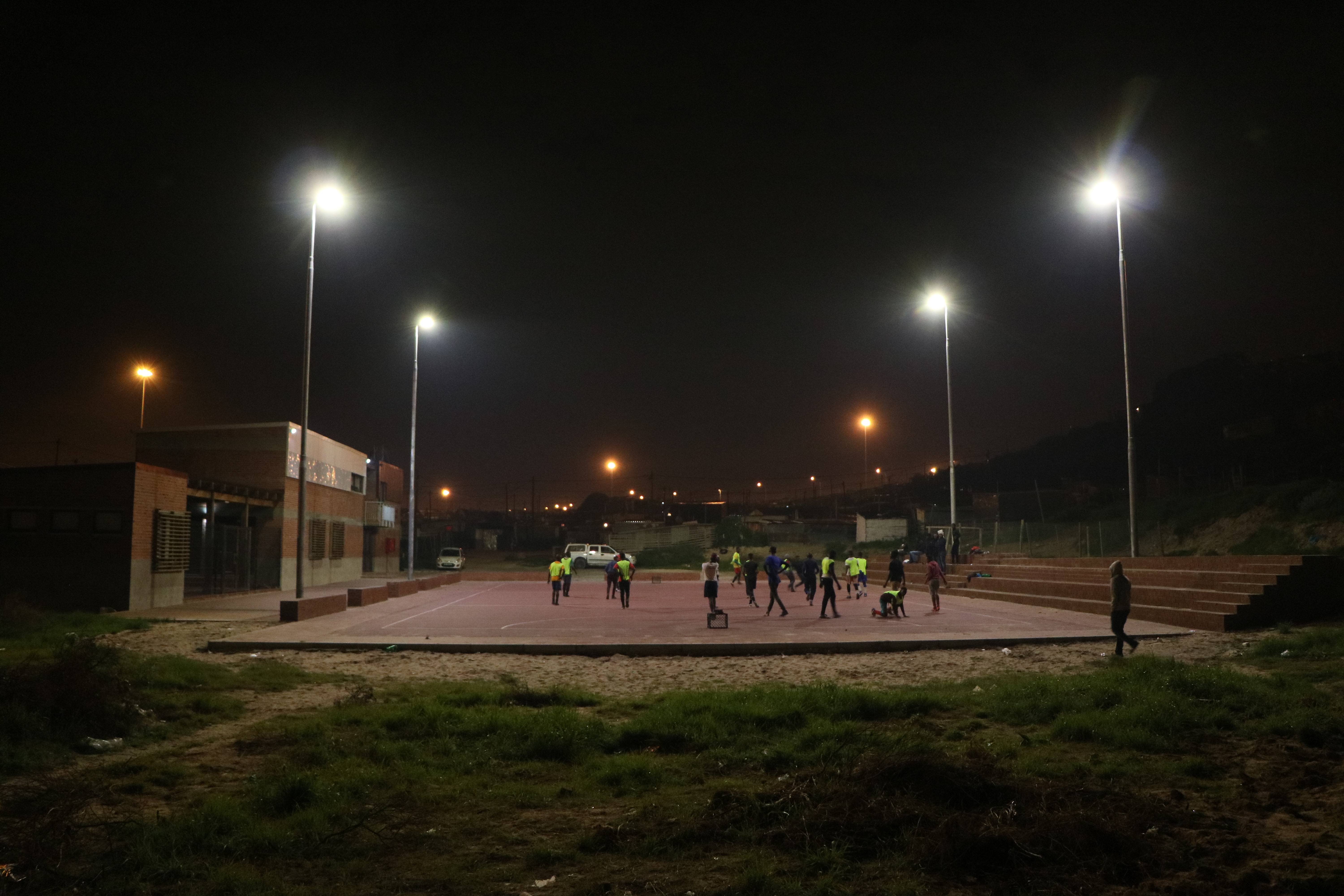 Monwabisi Park NHC all lit up!