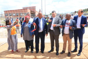 Ribbon Cutting at the opening of the Monwabisi Park Section A soccer field
